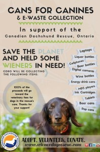 Cans for Canines and e-Waste